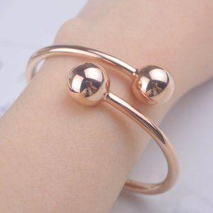Kate Spade Plated Open Rose Gold Bracelet